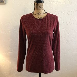Talbot's long sleeve blouse, size small